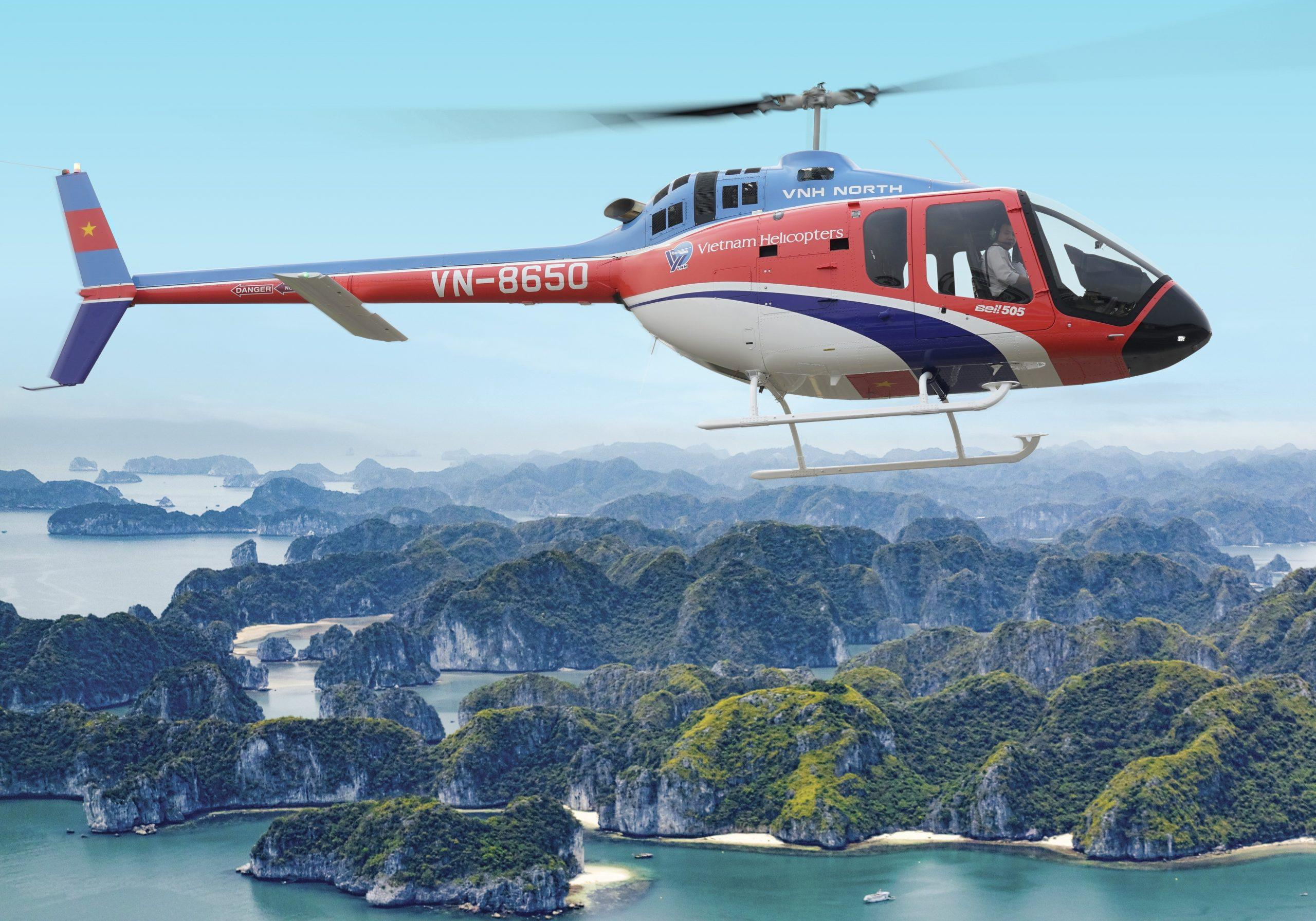 Halong Bay Helicopter Tour & Sightseeing 1 Day